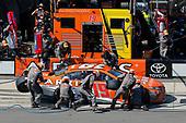 Monster Energy NASCAR Cup Series<br /> AXALTA presents the Pocono 400<br /> Pocono Raceway, Long Pond, PA USA<br /> Sunday 11 June 2017<br /> Daniel Suarez, Joe Gibbs Racing, ARRIS Toyota Camry pit stop<br /> World Copyright: Russell LaBounty<br /> LAT Images<br /> ref: Digital Image 17POC1rl_04884
