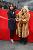 """Melissa Rivers and Joan Rivers honored by Gray Line New York with a """"Ride of Fame"""" bus with their name on a decal in the front of the bus on March 1, 2013 at Pier 78 in New York City."""