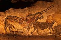 Europe/France/Aquitaine/24/Dordogne/Périgord Noir/Montignac: Grotte de Lascaux II - Grottes ornée  paléolithique - La Licorne,  [Non destiné à un usage publicitaire - Not intended for an advertising use]