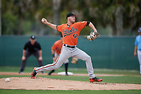 Baltimore Orioles pitcher Ryan Conroy (49) during a Minor League Spring Training game against the Tampa Bay Rays on March 16, 2019 at the Buck O'Neil Baseball Complex in Sarasota, Florida.  (Mike Janes/Four Seam Images)