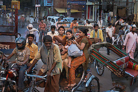 Crowds at the pilgrimage city of Varanasi.