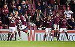 29.02.2020 Hearts v Rangers: Ollie Bozanic celebrates his goal for Hearts