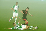 Real Betis Balompie's Sergio Canales (c) and Joaquin Sanchez (l) and Real Sociedad's Ander Barrenetxea during La Copa match. January 26, 2021. (ALTERPHOTOS/Acero)