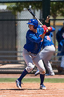 Chicago Cubs right fielder Kwang-Min Kwon (25) at bat during an Extended Spring Training game against the Colorado Rockies at Sloan Park on April 17, 2018 in Mesa, Arizona. (Zachary Lucy/Four Seam Images)