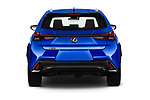 Straight rear view of a 2019 Lexus UX 250h-F-SPORT 5 Door SUV stock images