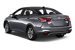 Car pictures of rear three quarter view of a 2020 Nissan Versa SV 4 Door Sedan angular rear