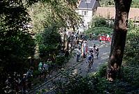 race leaders up the infamous Muur van Geraardbergen / Kapelmuur<br /> <br /> 17thBenelux Tour 2021 (2.UWT)<br /> (Final) Stage 7: from Namur to Geraardsbergen (178km)<br /> <br /> ©kramon