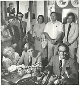 Reed Scowen<br /> et le chef du PLQ Claude Ryan, circa 1980<br /> <br /> PHOTO : Agence Quebec Presse