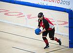 Cassie Orgeles, Toronto 2015 - Goalball.<br /> Canada's Women's Goalball team plays against USA in the semi finals // L'équipe féminine de goalball du Canada joue contre les États-Unis en demi-finale. 14/08/2015.