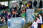 Flor McCarthy, Kilmoyley captain raises the Neilus Flynn cup after the County Senior hurling Final between Kilmoyley and Saint Brendan's at Austin Stack park on Sunday.