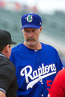 Ogden Raptors Manager Jack McDowell (54) prior to the game against the Orem Owlz in Pioneer League action at Lindquist Field on June 27, 2014 in Ogden, Utah.  (Stephen Smith/Four Seam Images)