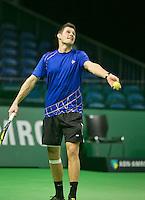 08-02-2014, Netherlands,Rotterdam,Ahoy, ABNAMROWTT,  Stephan Fransen (NED)<br /> Photo:Tennisimages/Henk Koster