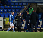 23.12.2020 St Johnstone v Rangers: Michael O'Halloran sent off for a second yellow card and appears to exchange words with Steven Gerrard on his way up the tunnel