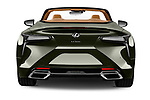 Straight rear view of 2021 Lexus LC-Convertible 500 2 Door Convertible Rear View  stock images