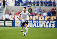 Carlos Bocanegra of the USA dribbles the ball against El Salvador during a World Cup Qualifying match at Rio Tinto Stadium, in Sandy, Utah, Friday, September 5, 2009.  .The USA won 2-1..