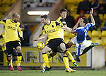 Lee Wallace taken out by some strongarm tactics fron Livingston