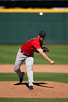 Boston Red Sox pitcher Colten Brewer (48) during a Major League Spring Training game against the Atlanta Braves on March 7, 2021 at CoolToday Park in North Port, Florida.  (Mike Janes/Four Seam Images)