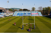 23th April 2021; RDS Arena, Dublin, Leinster, Ireland; Rainbow Cup Rugby, Leinster versus Munster; The Munster squad inspect the pitch prior to kickoff