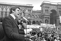 - Milano, sciopero generale dell'industria, parla Giorgio Benvenuto, segretario generale del sindacato UIL (Marzo 1976)<br /> <br /> - Milan, general strike of industry, speaks Giorgio Benvenuto, secretary general of the UIL trade union (March 1976)