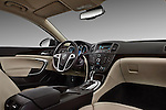 Low angle dashboard view of a 2011 Buick Regal CXL Sedan