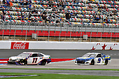 #11: Denny Hamlin, Joe Gibbs Racing, Toyota Camry FedEx Ground, #9: Chase Elliott, Hendrick Motorsports, Chevrolet Camaro NAPA Auto Parts