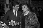 """BIAGIO ARIXI CON MARIA ROSARIA OMAGGIO<br /> PRESENTAZIONE LIBRO """"DIVERSE GIOVINEZZE"""" DI BIAGIO ARIXI ROMA 1982"""