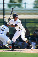 GCL Pirates first baseman Mikell Granberry (31) at bat during a game against the GCL Yankees East on August 15, 2016 at the Pirate City in Bradenton, Florida.  GCL Pirates defeated GCL Yankees East 5-2.  (Mike Janes/Four Seam Images)