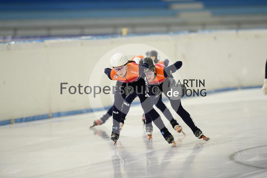 SCHAATSEN: HEERENVEEN: 07-10-2020, IJsstadion Thialf, shorttracktraining, ©foto Martin de Jong