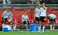 Players of team germany are disappointed after winning 1:0 against Nigeria during the FIFA Women's World Cup at the FIFA Stadium in Frankfurt, Germany on June 30th, 2011.