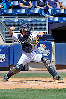 Staten Island Yankees catcher Nick McCoy #12 during a game against the State College Spikes at Richmond County Bank Ballpark at St. George on July 14, 2011 in Staten Island, NY.  Staten Island defeated State College 6-4.  Tomasso DeRosa/Four Seam Images