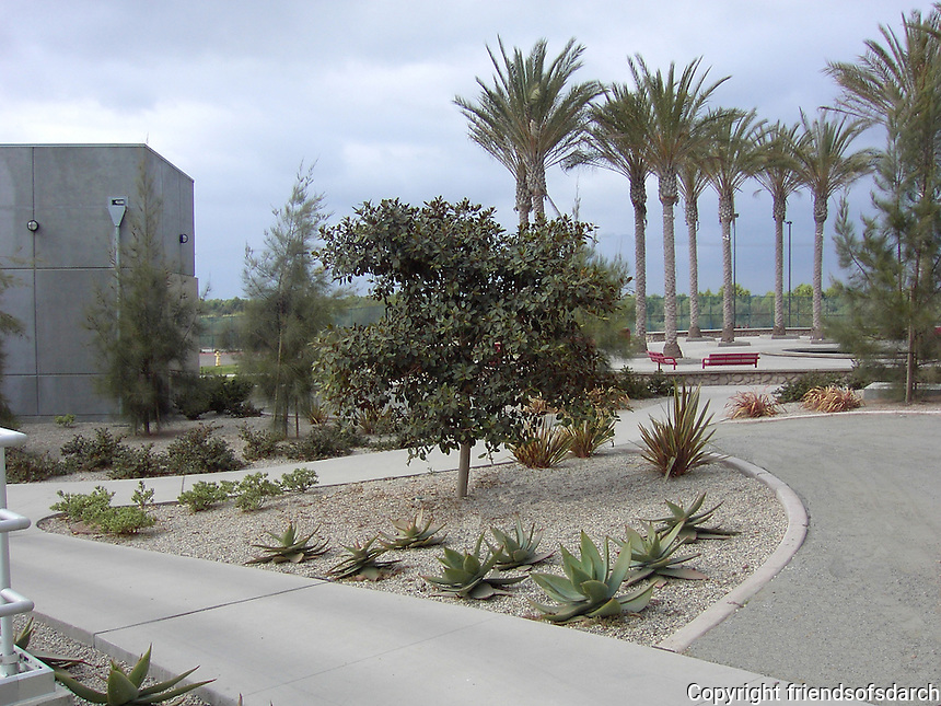 South Bay Water Reclamation Plant--28 acre facility in San Diego. Design included all exterior areas: walkways, ADA access, parking lots, patios and plazas, demonstration gardens and tour route, public art and monument sign design. Completed in 2002. Gail Garbini, ASLA