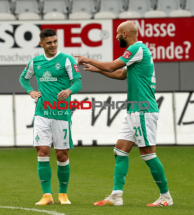 17.10.2020, Schwarzwald Stadion, Freiburg, GER, 1.FBL, RB Leibzig vs SV Werder Bremen<br />