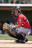 Catcher Gustavo Molina #24 of the Syracuse Chiefs on defense versus the Charlotte Knights at Knights Castle May 3, 2009 in Fort Mill, South Carolina. (Photo by Brian Westerholt / Four Seam Images)