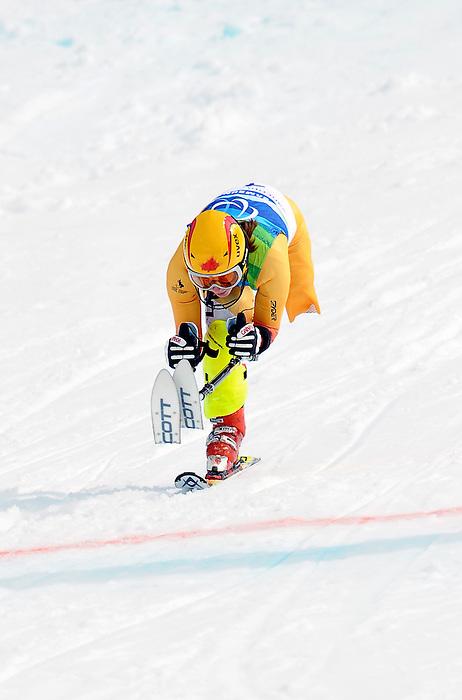 Andrea Dziewior, Vancouver 2010 - Para Alpine Skiing // Ski para-alpin.<br /> Andrea Dziewior competes in Para Alpine Skiing // Andrea Dziewior participe en ski para-alpin. 15/03/2010.