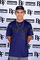 Felix Perez (3) of Arroyo High School in El Monte, California during the Baseball Factory All-America Pre-Season Tournament, powered by Under Armour, on January 12, 2018 at Sloan Park Complex in Mesa, Arizona.  (Mike Janes/Four Seam Images)