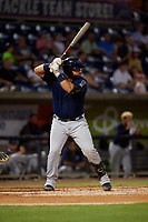 Mobile BayBears Julian Leon (20) at bat during a Southern League game against the Mobile BayBears on July 25, 2019 at Blue Wahoos Stadium in Pensacola, Florida.  Pensacola defeated Mobile 3-2 in the second game of a doubleheader.  (Mike Janes/Four Seam Images)