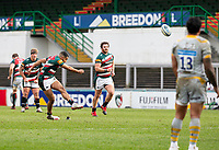 20th February 2021; Welford Road Stadium, Leicester, Midlands, England; Premiership Rugby, Leicester Tigers versus Wasps; Zack Henry of Leicester Tigers misses a penalty kick