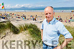 Pat Lawlor on Banna Beach on Sunday as he celebrates Banna Beach been named in the top 25 beaches in Europe by Tripadvisor.