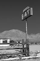 Abandoned resturaunt near Pearsonville in California's Mojave Desert along US 395.