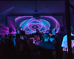 May 18, 2018. Durham, North Carolina.<br />  <br /> Waajeed at the Durham Armory. <br /> <br /> Moogfest 2018 showcases 4 days of music, art and technology spread out amongst venues in and around downtown Durham.