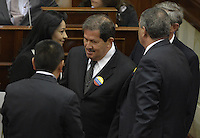 BOGOTA -COLOMBIA. 20-07-2014. Angelino Garzón, vicepresidente de  Colombia hace su ingreso al salón Elíptico donde Juan Manuel Santos, presidente de Colombia, hará la instalación del Congreso de la República para la legislatura 2014-18./ Angelino Garzon, vice president of Colombia, come in to the Salon Eliptico where Juan Manuel Santos, president of Colombia, will make the installtion of the Congress of the Republic to the legislature 2014-18 . Photo: VizzorImage/ Gabriel Aponte / Staff