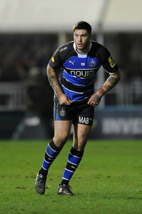 Matt Banahan of Bath Rugby during the LV= Cup semi final match between Bath Rugby and Leicester Tigers at The Recreation Ground, Bath (Photo by Rob Munro, Fotosports International)