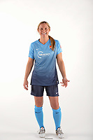 Belmar, NJ - Wednesday March 29, 2017: Christie Pearce poses for photos at the Sky Blue FC team photo day.