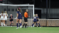 CHAPEL HILL, NC - NOVEMBER 29: Maycee Bell #25 of the University of North Carolina celebrates scoring the game-winning goal with Maggie Pierce #28 during a game between University of Southern California and University of North Carolina at UNC Soccer and Lacrosse Stadium on November 29, 2019 in Chapel Hill, North Carolina.