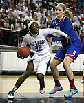 Centennial's JEboni Walker looks to shoot past Reno defender Mallory McGwire during the NIAA Division I state basketball tournament in Reno, Nev. on Thursday, Feb. 25, 2016. Centennial won 82-53. Cathleen Allison/Las Vegas Review-Journal