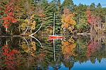Reflection in White Lake, White Lake State Park, Tamworth, NH, USA