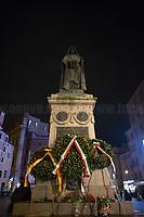 17.02.2021 - Giordano Bruno 421st Anniversary Marked in Rome's Campo de' Fiori