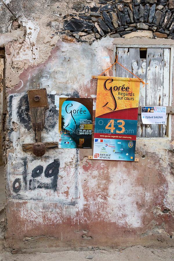 Poster Announcing Tenth Anniversary of Biannual Arts Festival, Goree Island, Senegal.  Studio of Djibril Sagna.