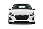 Car photography straight front view of a 2018 Hyundai Elantra GT GT Auto 5 Door Hatchback