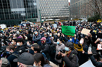 NEW YORK, NEW YORK- FEBRUARY 27, 2021: Protestors attend the American Asian Federation Anti-Asian Hate Rally held at Foley Square/Federal Plaza in the lower Manhattan section of New York City on February 27, 2021.  Photo Credit: mpi43/MediaPunclh